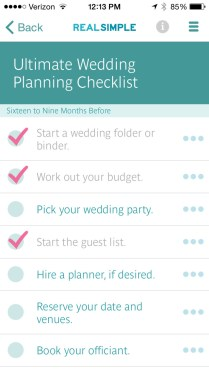 Real Simple Wedding Checklists